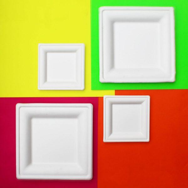 lato cuadrado pulpa de papel pequeño 16 cm biodegradable purabox