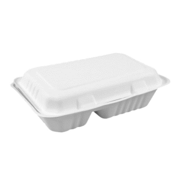 Portacomidas con división de pulpa de papel J2 Purabox