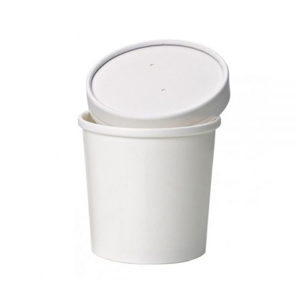 Tazón biodegradable con tapa de cartón Purabox
