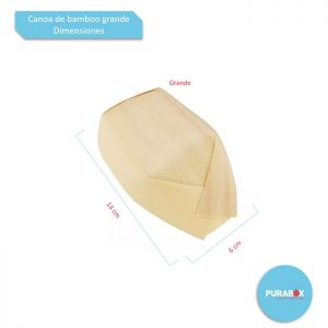 Canoa de bamboo grande Biodegradable purabox
