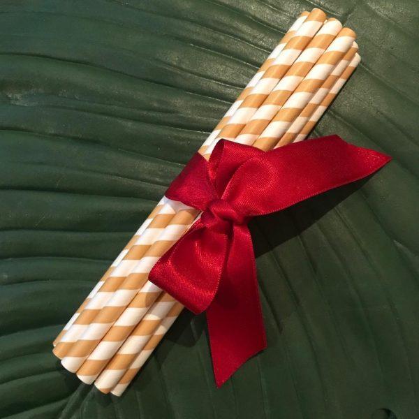 Pitillos dorados de papel de Temporada biodegradable purabox