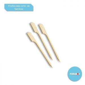 Pincho Pala Corto de Bamboo 9 cm Biodegradable purabox