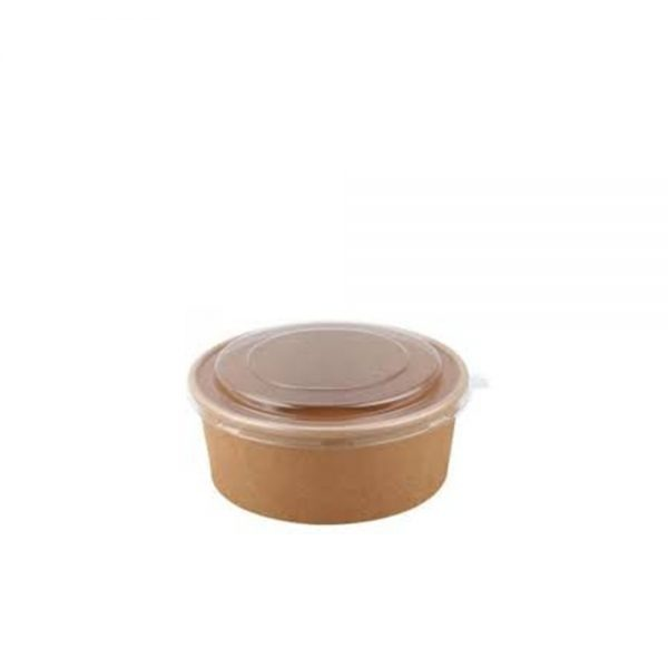 Bowl Kraft 1.000 ml Marrón con tapa Biodegradable purabox
