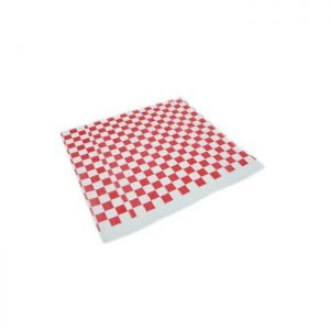 Lamina antigrasa cuadros rojos Biodegradable purabox