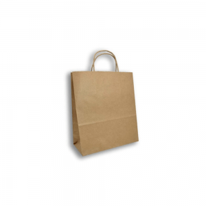 Bolsa Trenzada Kraft 25cm x12cm x27cm Biodegradable purabox