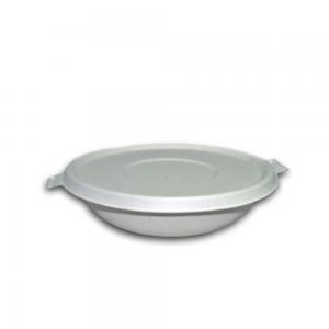Bowl redondo 850 ml con tapa pulpa Biodegradable purabox