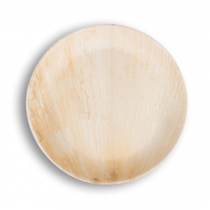 Plato de bamboo redondo grande Biodegradable purabox