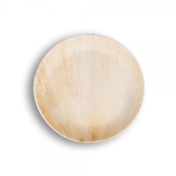 Plato de bamboo redondo mediano Biodegradable purabox
