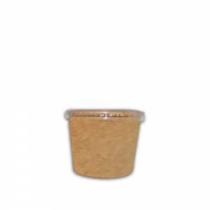 Ecotazon Kraft 6 oz con tapa Biodegradable purabox